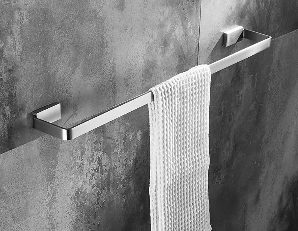 EQEQ Towel Rack Towel Rack/Bathroom Single Towel Rail (304 Stainless Steel), On The Wall Auctioned Bath Towel Holder, Simple Style Rooms (Size: 500Mm)
