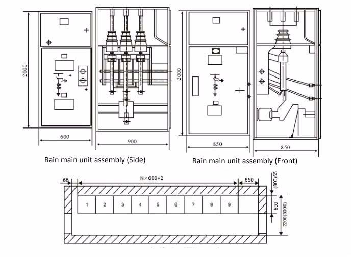 hxgn- 11kv 12kv ring main unit switchgear