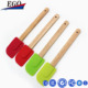 colorful silicone rubber spatulas with wood handle