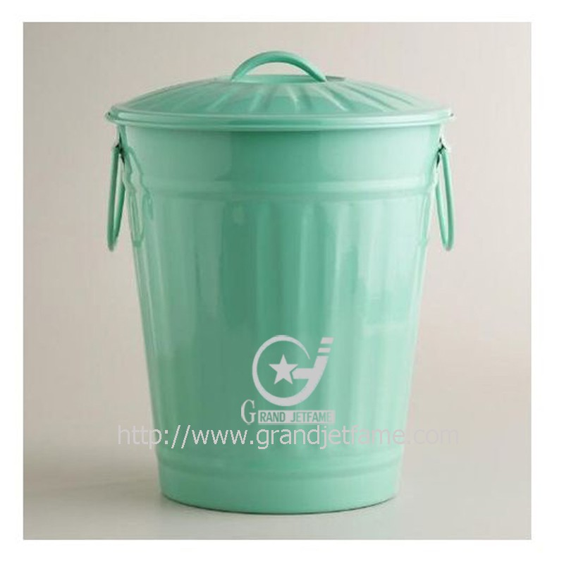 Küche Bunte Verzinktem Metall Mülltonne Mülleimer Abfallbehälter ...