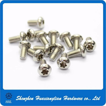 M2 M3 M4 M5 M6 M8 Pan/flat Head T6 Torx Screw