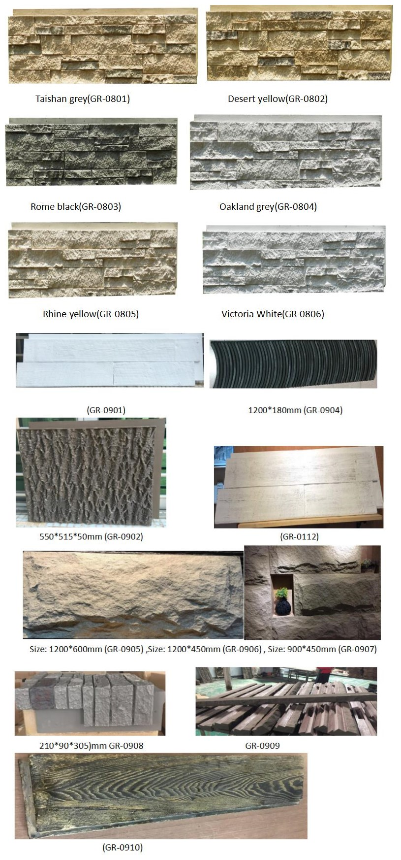 Polyurethane Beauty Cheap Exterior Decorative Wall Panel PU outdoor stone wall tile