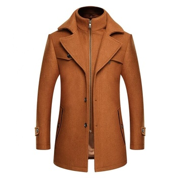 Autumn and winter new wool coat Slim male thick warm winter coat