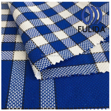 Q7576 Yarn dyed cotton fabric blue and white checks clothing fabric