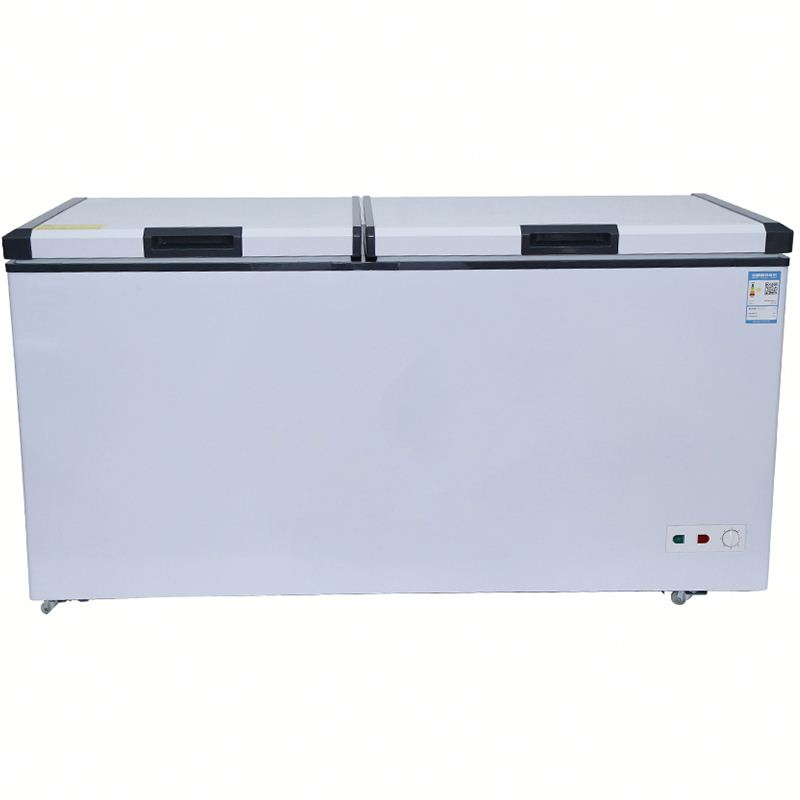 500L supermarket frozen meat horizontal chest deep freezers