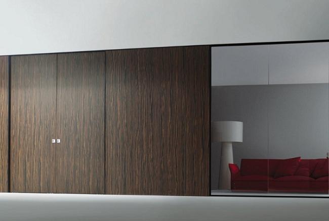 diseo moderno empotrado closet puerta sin marco puerta corredera