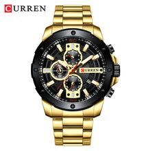 Relogio Masculino мужские наручные часы Curren Топ люксовый бренд часы мужские s кварцевые часы из нержавеющей стали модные хронограф часы мужские(Китай)