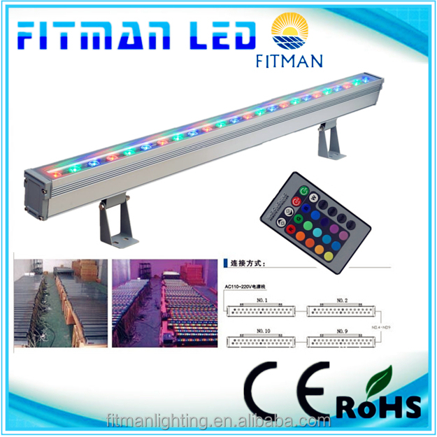 36W LED landscape High-power RGB wall washer light with remote controller for decorative lighting