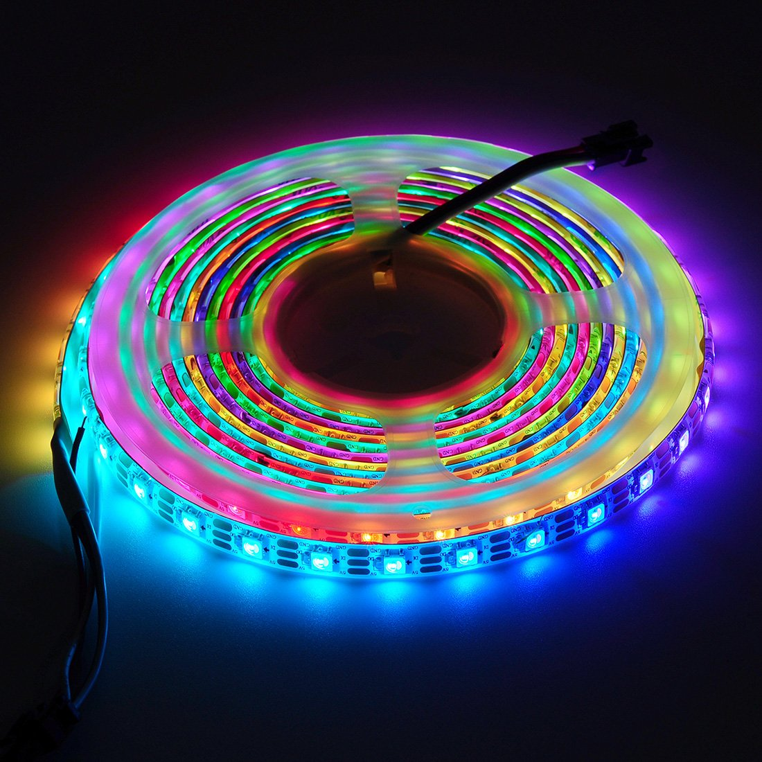 BTF-LIGHTING RGBW RGBNW Natural White SK6812 (Similar WS2812B) 16.4ft 5m 60leds/pixels/m Individually Addressable Flexible 4 color in 1 LED Dream Color LED Strip Waterproof IP65 DC5V