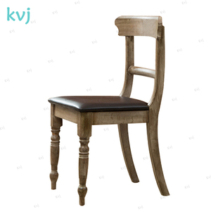 KVJ-7040 High quality vintage carved wooden dining chair