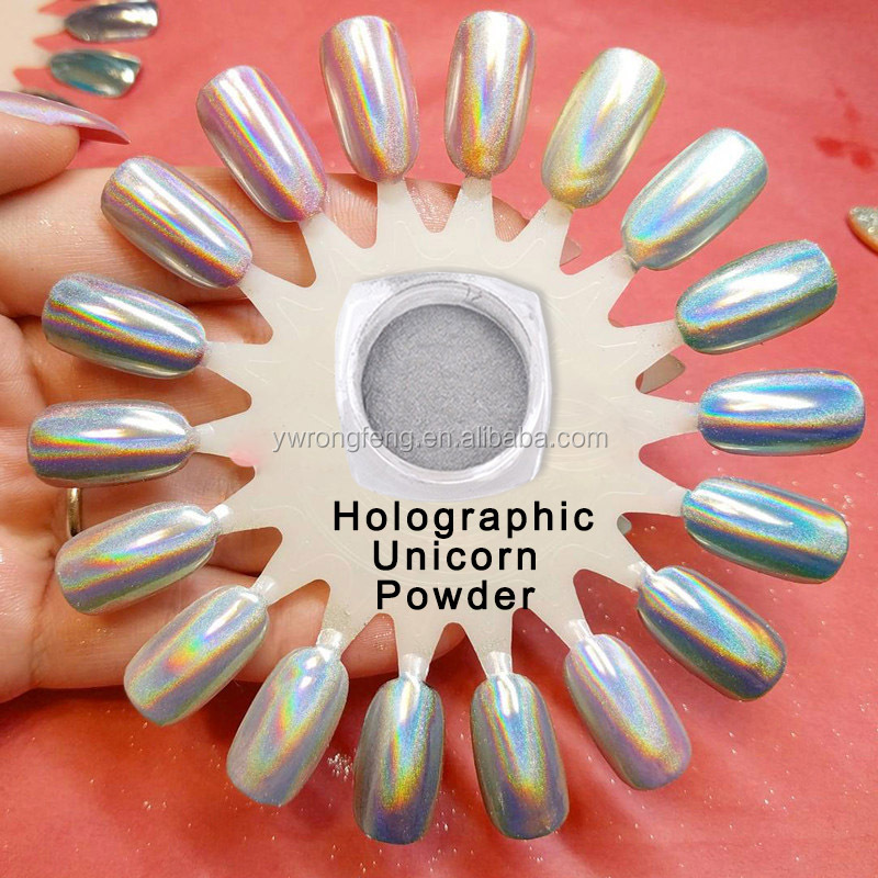 Chrome Chameleon Mirror powder Holographic Pigment acrylic nails glitter