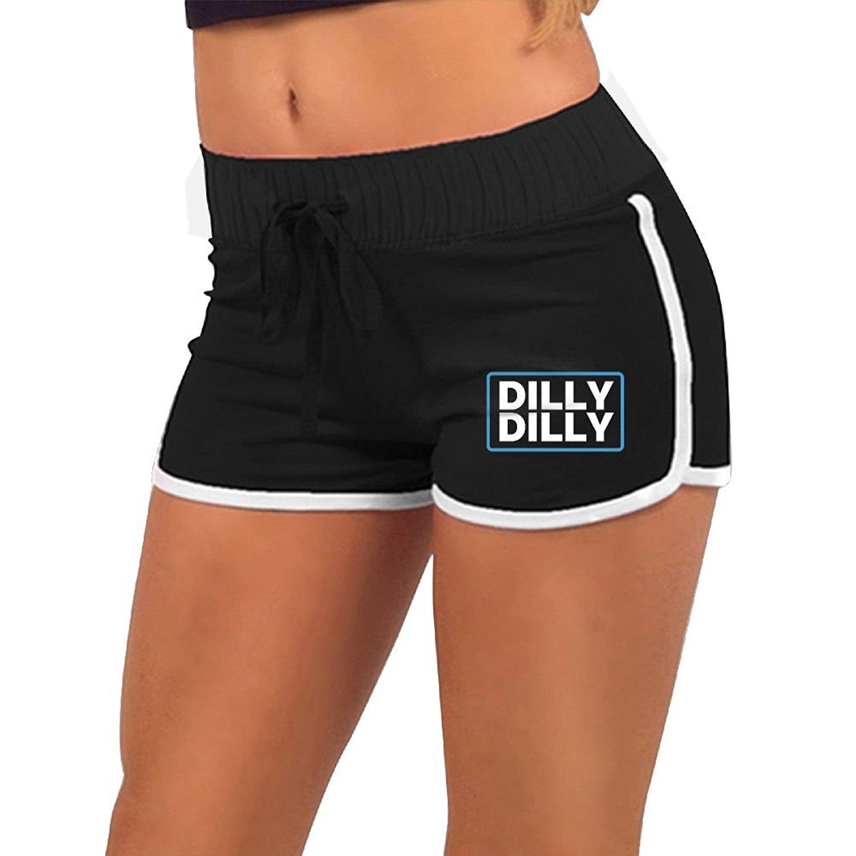 KENYYIOP Dilly Dilly Womens Yoga Shorts Workout Shorts Summer Pants Running Shorts Drawstring Waist Shorts