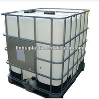 Steel caged IBC tank