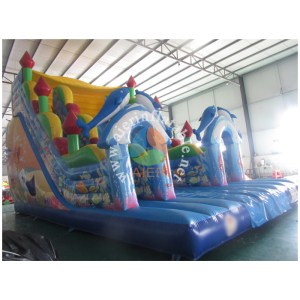 Factory price inflatable attraction,inflatable castle with slide,ocean world inflatable