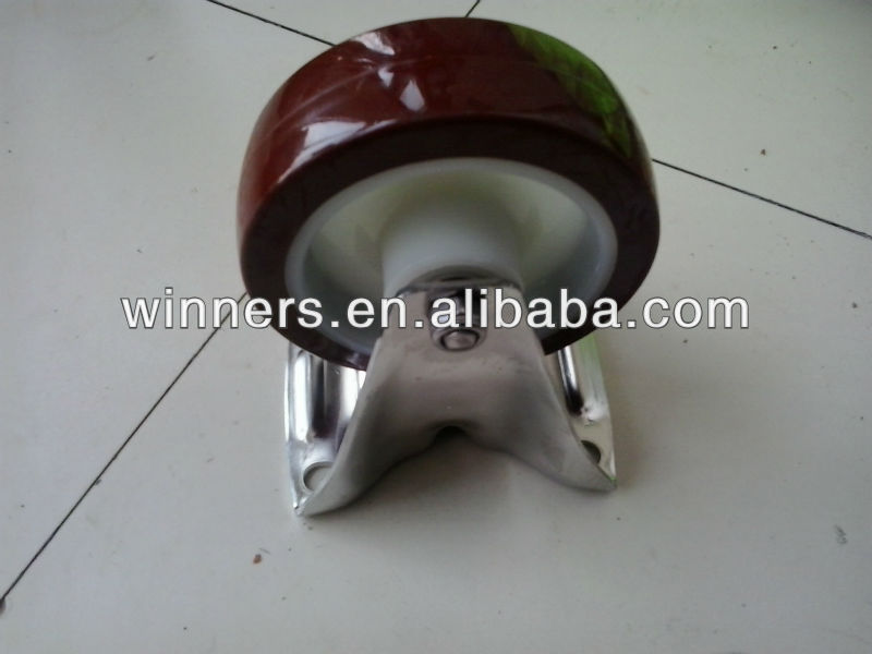 stainless steel Polyurethane table wheel caster