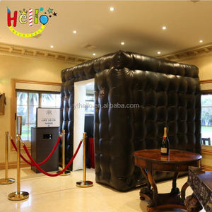 Portable LED Inflatable Pavilion Booth, Inflatable Photo Booth Enclosure For Photography