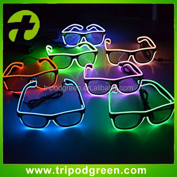 OEM electroluminescent el wire flashing glasses for Party & Event Supplies