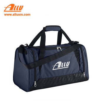 Detachable folding large capacity waterproof blue outdoor sports duffle bag
