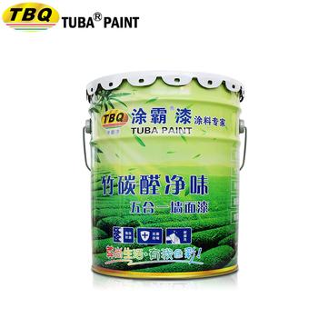 Tuba Odorless Decorative Emulsion Full Effect Antibacterial Anti Alkali Mildew Proof White Interior Wall Paint