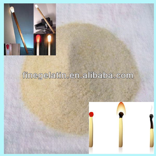 match gelatin industry/industrial gelatin for match head/match glue
