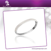Hot Sell Classic Cubic Zirconia Paved Fashion Bangle Bracelet Jewelry