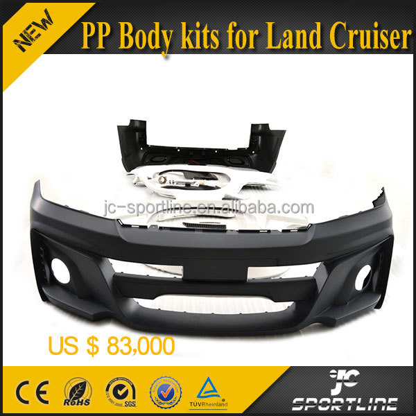 JC (Front and Rear Bumper FRP Wheel Arch Flares) Invader PP Body Kit for Toyota Land Cruiser LC200 570R 2012 2013 2014 2015