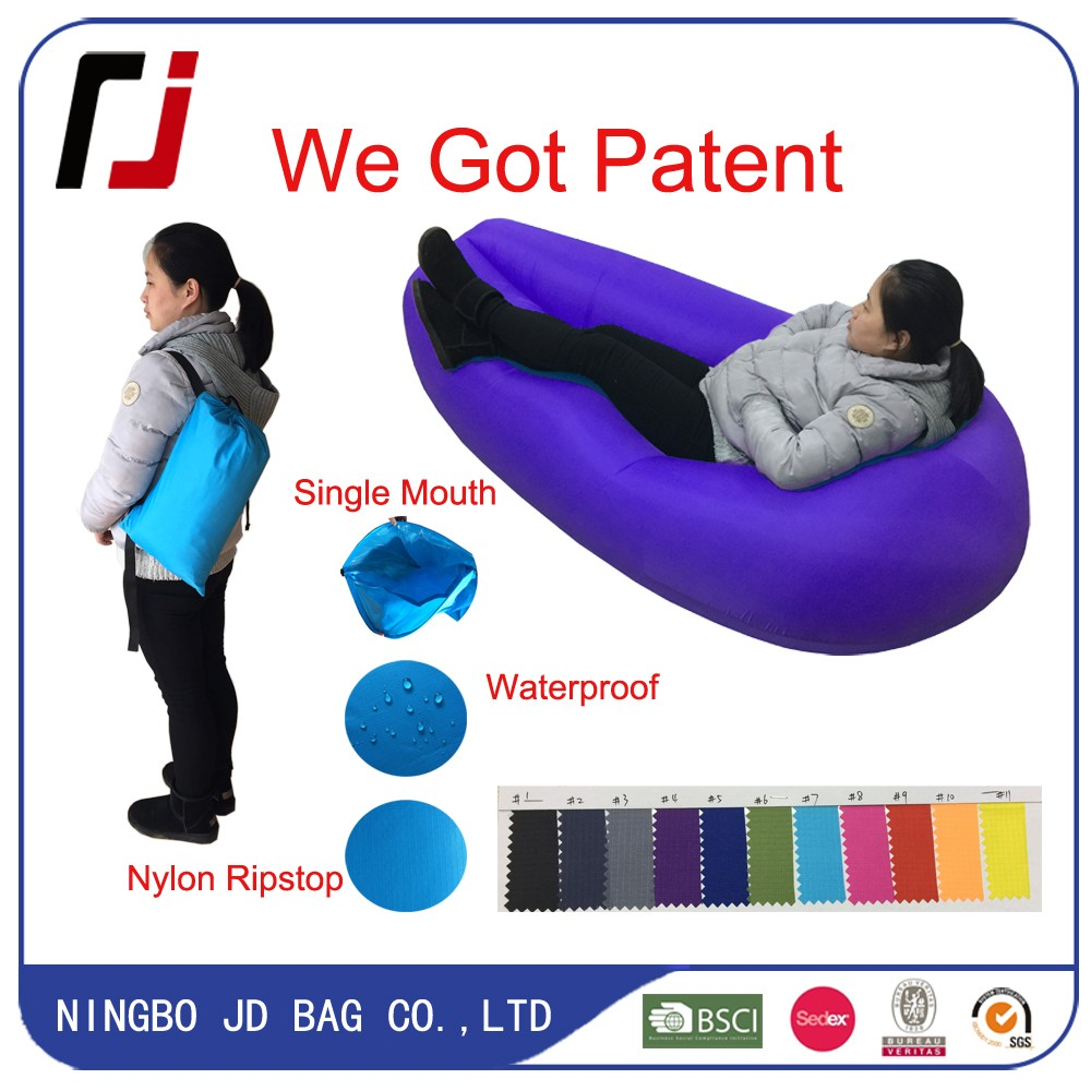 2017 Fashion Popular Air Filled Chair JD,Sleeping Inflatable Air Camping Bed Inflatable Bag JD