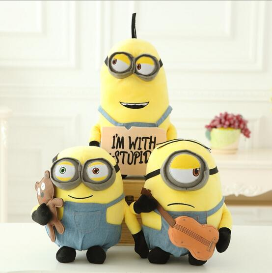 1pcs Newest Minions Minion Stuart Kevin Bob Plush Toy Hanger Stuffed Toy  Despicable Me 3 Minions Baby Toy
