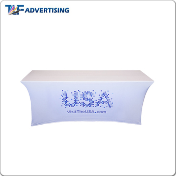 4ft 6ft 8ft white stretch table cloth for trade show