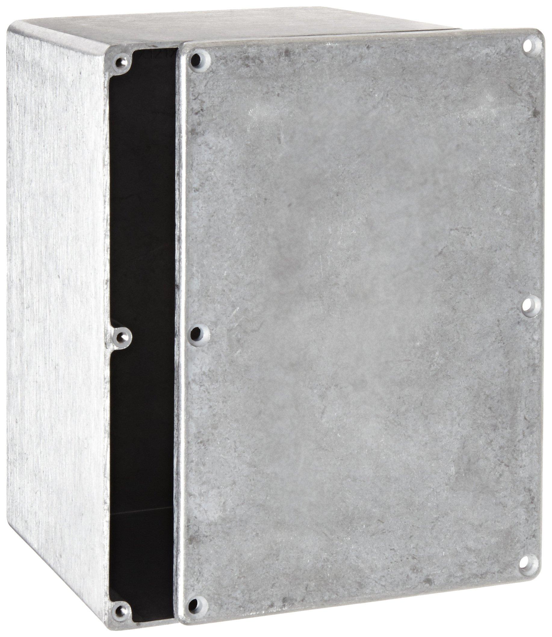 "BUD Industries CN-5710 Die Cast Aluminum Enclosure, 6-49/64"" Length x 4-49/64"" Width x 4-13/64"" Height, Natural Finish"