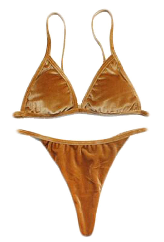 f9cfb171623ca Get Quotations · BYBU-Women Sexy Velvet Bikini Swimwear 2 Piece Bikini
