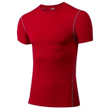 c668e7a84d Atacado Ginásio de Esportes Correndo camiseta Dry Fit Camisa De Compressão  Dos Homens de Manga Curta