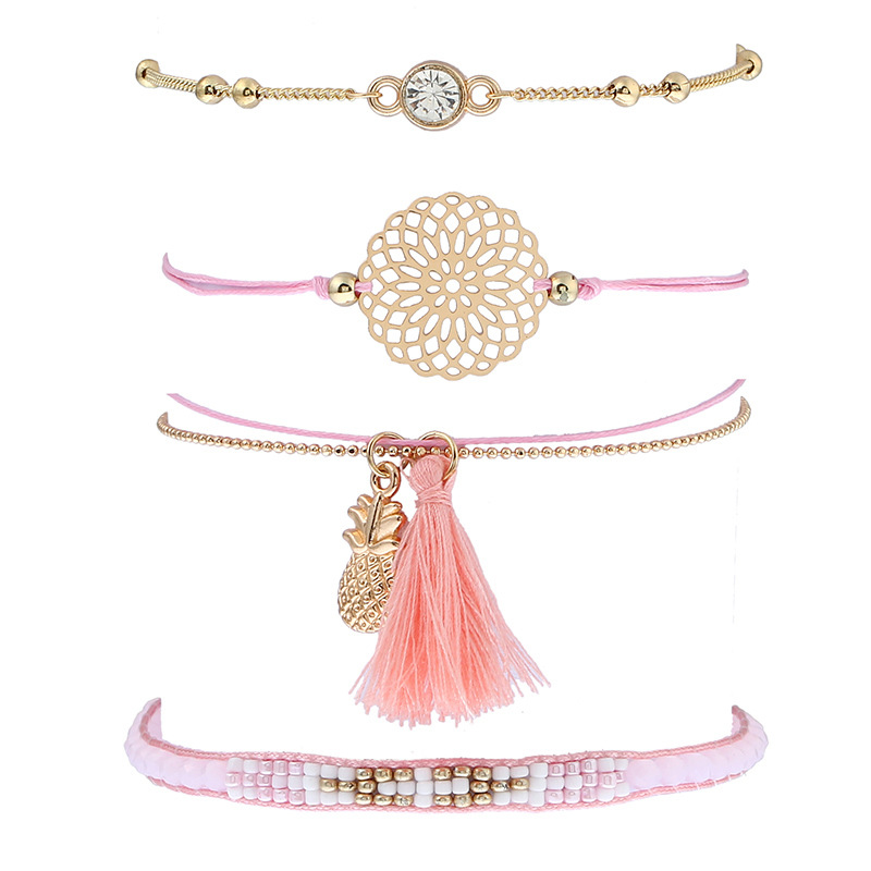 Fashion Gold Tassel Ladies Charm Bracelets For Women Wholesale NS8037286