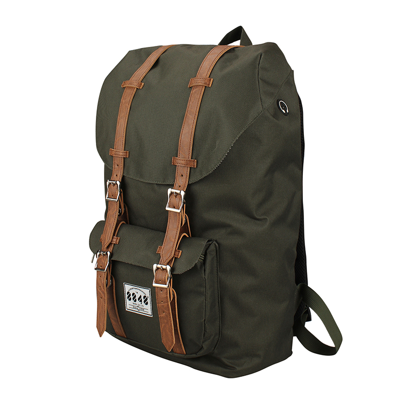 Custom Durable Travel Backpack in International Travel For Men Army Green Shouler Bagpack