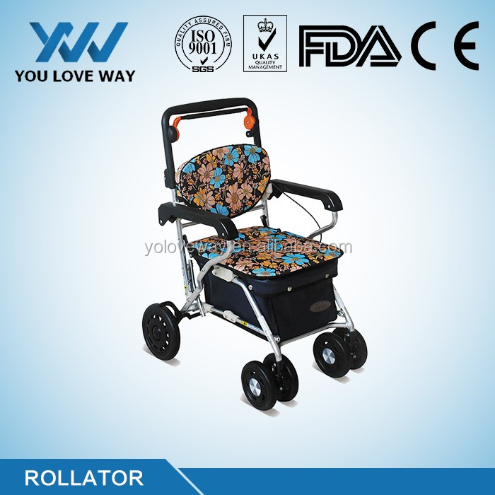 Korea government approved Fully set of Rollator parts for Korea wheeled walkers & rollators for olderly