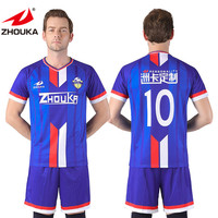 Custom top quality manufacturer latest soccer jersey design sublimated cheap soccer uniform