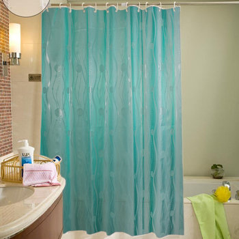 Customized Glitter Printing Shower Curtain Peva Fabric Window