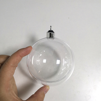 Round Outdoor Clear Acrylic Transparent Ornament Christmas Balls