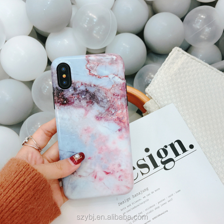 Multi color fresh marbling glossy phone case for iphone 7