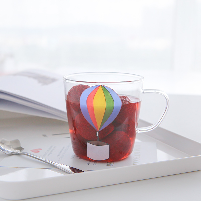 Cartoon Cute Pattern Transparent Glass Unicorn Mug Cup