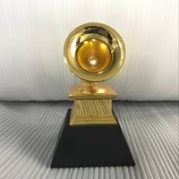 Grammy Trophy Awards By Free DHL ship with black marble base metal Grammy trophy awards customized replica grammy award trophy