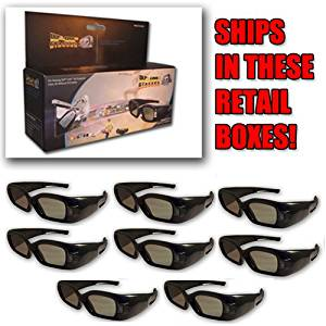 3DTV Corp® 3D Window® DLP LINK 3D Glasses (EIGHT) for ALL 3D Ready DLP Projectors and ALL Samsung® and Mitsubishi® DLP TV's.