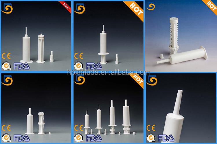 dispoasble veterinary pharmaceutical plastic syringe