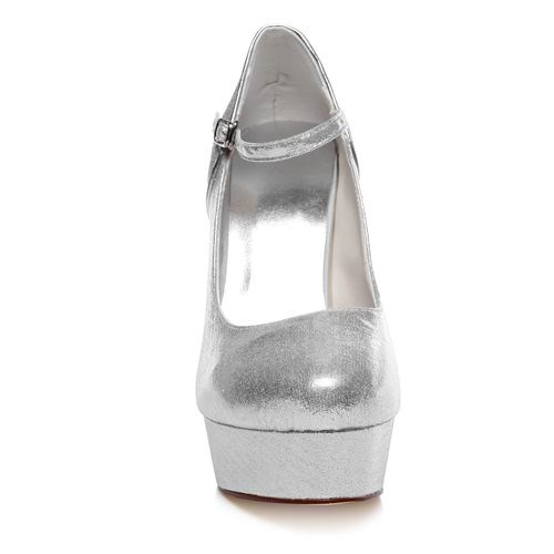 09edec7d4b7b WR-201-47 silver color high heel with thick platform bridal wedding shoes  for