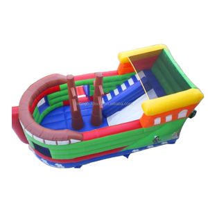 Pirate Boat Inflatable Ship Jumping Bouncer with EN14960 Certificate