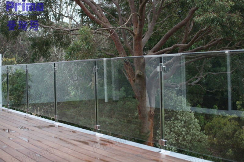 Outside Aluminum Balcony Glass Railing With Base Shoe Buy