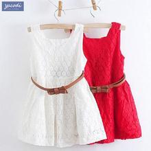 Vestidos de meninas de verão 2016 crianças roupas meninas belo vestido de renda meninas do bebê qualidade adolescente vestido de roupa dos miúdos para 2 anos de idade-6