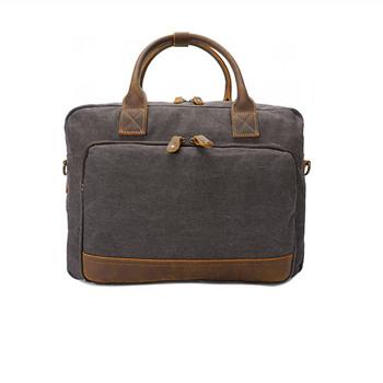 Men Canvas Retro Shoulder Computer Bag For Macbook 0f7c19e338c