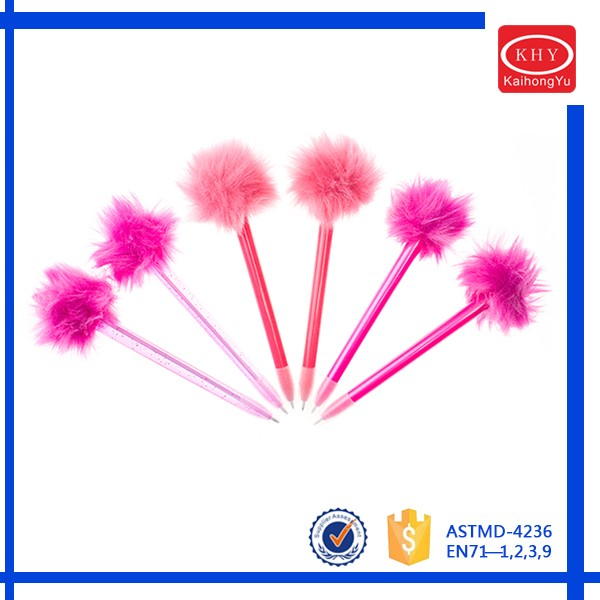 Promotional Gift Cute Pink Feather Ball Pens