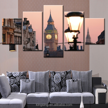 Big Ben Simple Modern Architectural Painting Canvas Without Frame